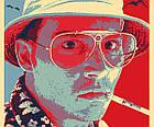 Постер BEGEMOT Поп-Арт Рауль Дюк Страх и ненависть в Лас-Вегасе 40x61 см (1120067), фото 3