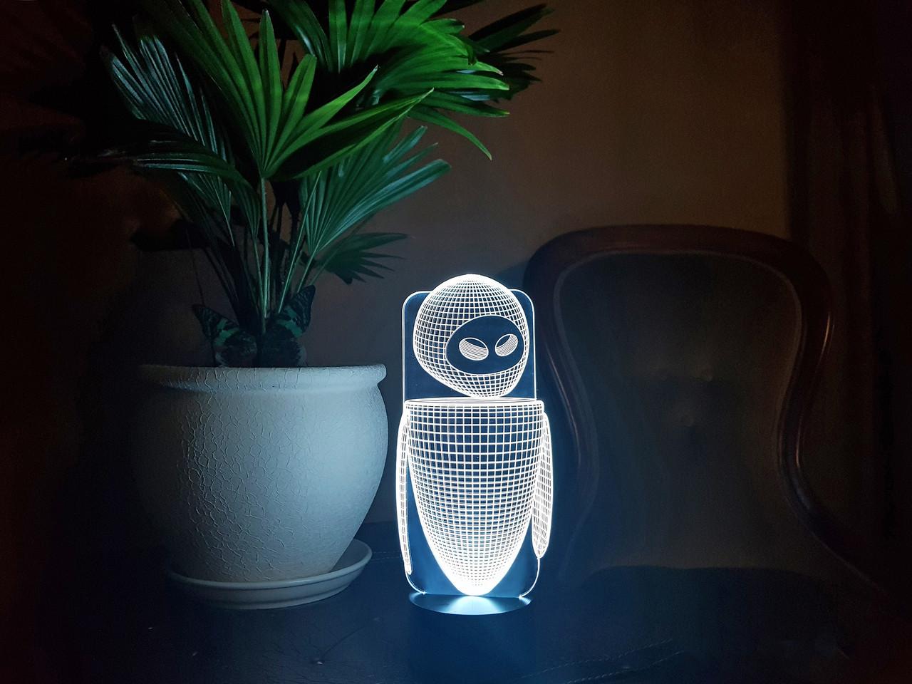 """3D светильник ночник """"Ева"""" 3DTOYSLAMP"""