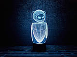 "3D светильник ночник ""Ева"" 3DTOYSLAMP, фото 2"