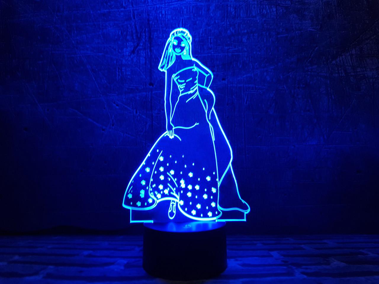 "3D светильник ночник ""Золушка"" 3DTOYSLAMP"