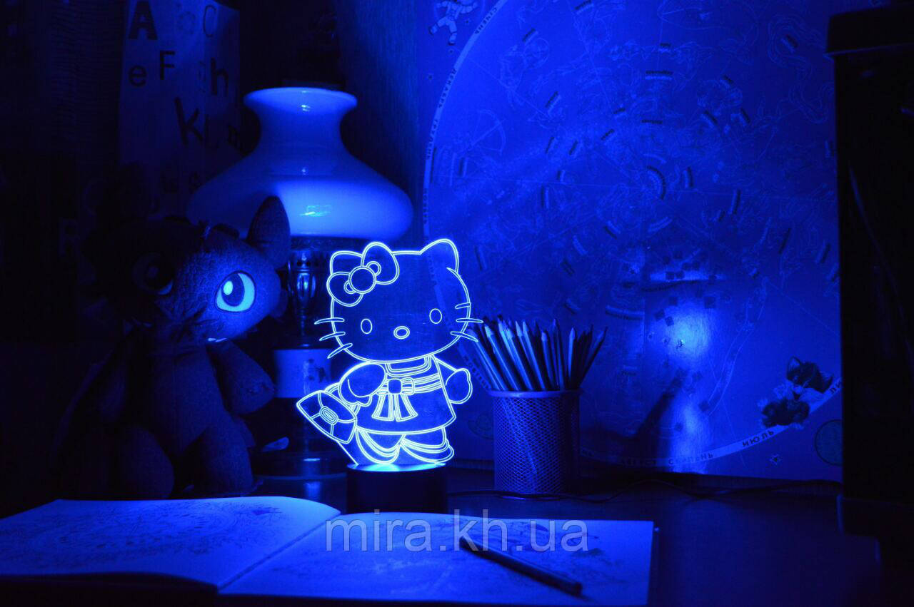 "3D светильник ночник ""Kitty"" 3DTOYSLAMP"