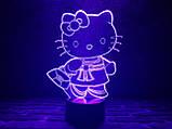 """3D светильник ночник """"Kitty"""" 3DTOYSLAMP, фото 2"""