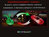 """3D светильник ночник """"Kitty"""" 3DTOYSLAMP, фото 5"""