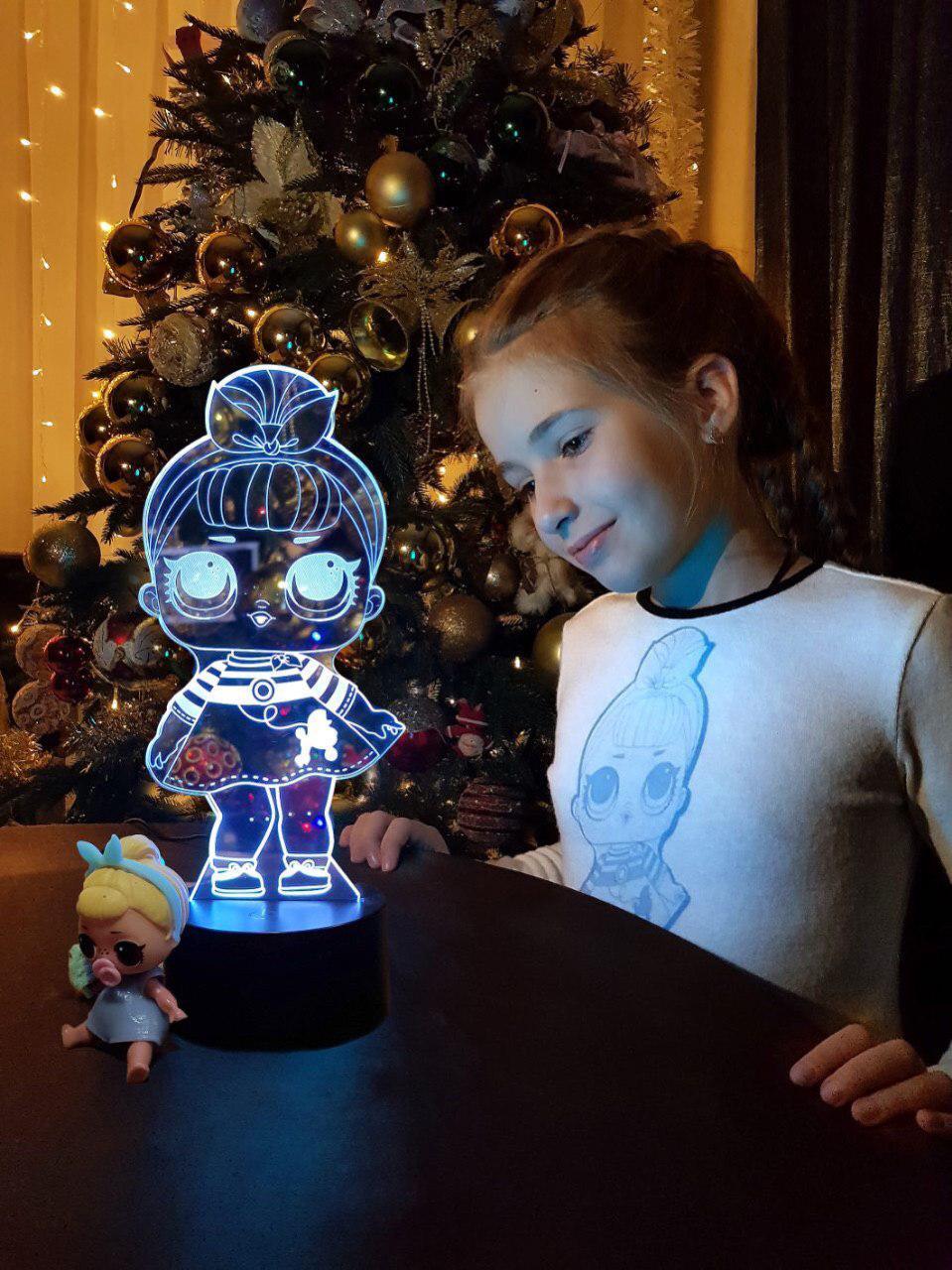 3D светильник ночник «LOL 1» 3DTOYSLAMP