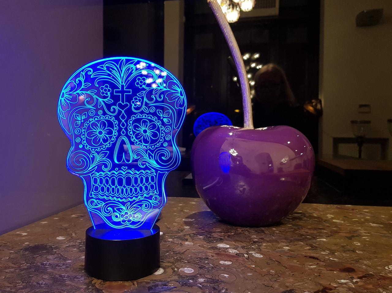 """3D светильник ночник """"Череп 2"""""""