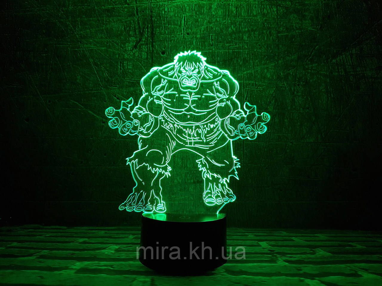 """3D светильник ночник """"Халк"""""""