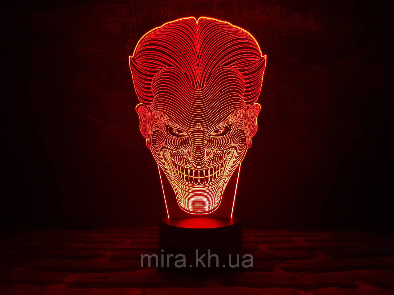 """3D светильник ночник """"Джокер"""""""