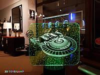 """3D светильник ночник """"Космический корабль"""" 3DTOYSLAMP"""