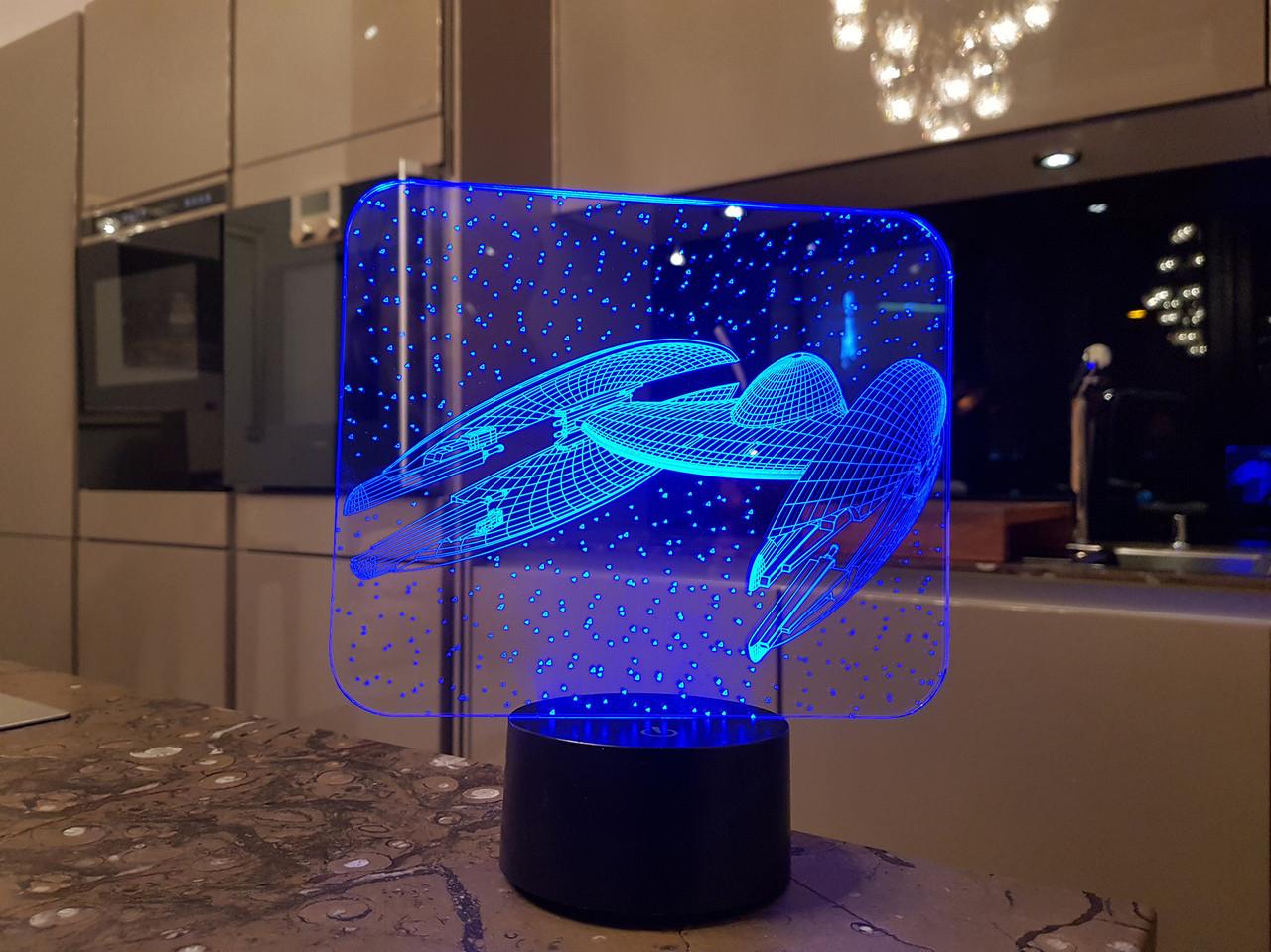 """3D светильник ночник """"Космический корабль 5"""" 3DTOYSLAMP"""