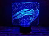 """3D светильник ночник """"Космический корабль 5"""" 3DTOYSLAMP, фото 2"""