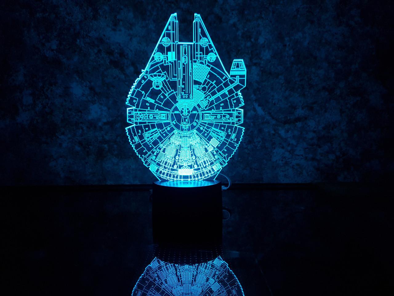 """3D светильник ночник """"Сокол тысячелетия"""" 3DTOYSLAMP"""
