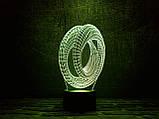 "3D светильник ночник ""Лента Мебиуса 3"" 3DTOYSLAMP, фото 2"