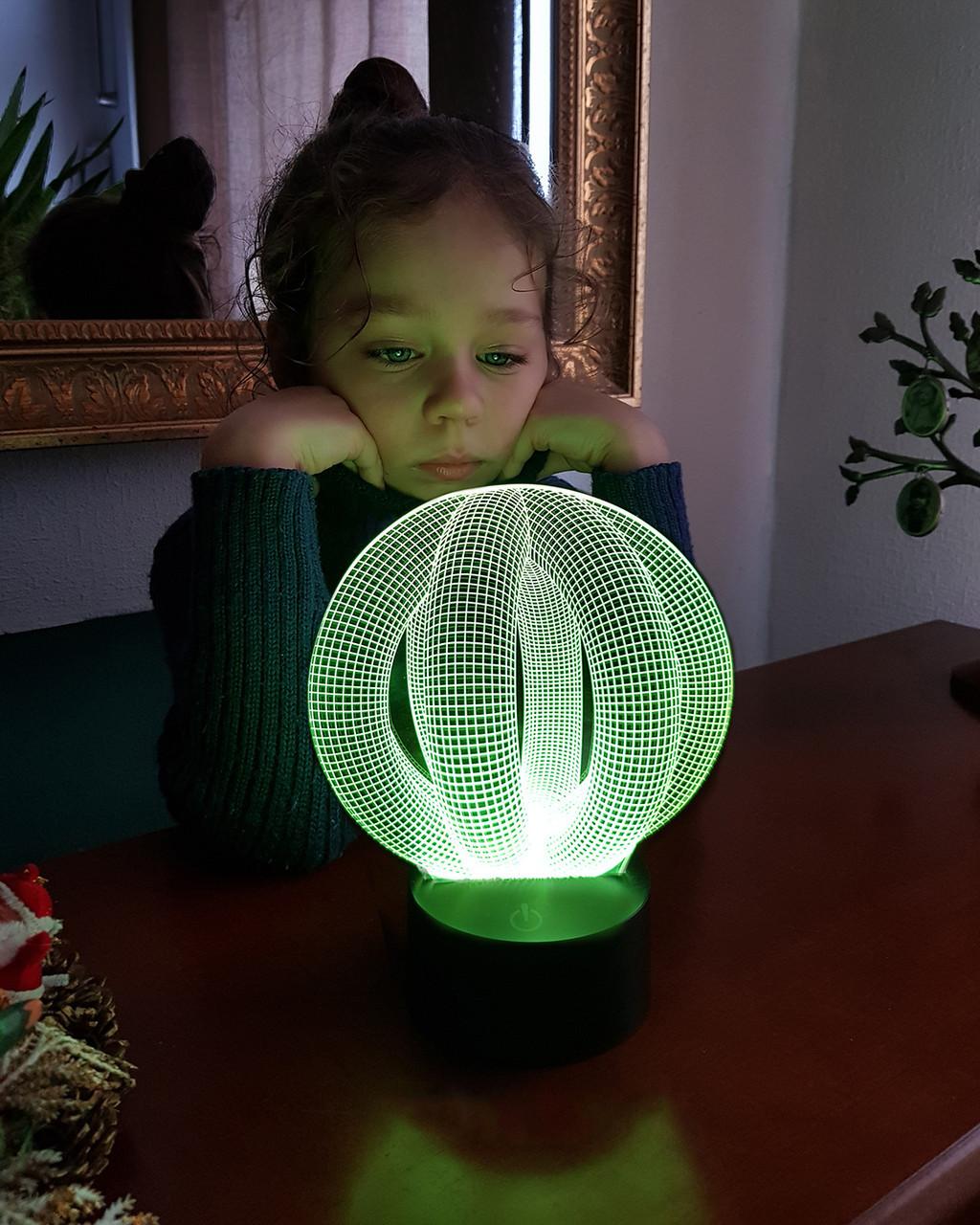 """3D светильник ночник """"Целостность"""""""