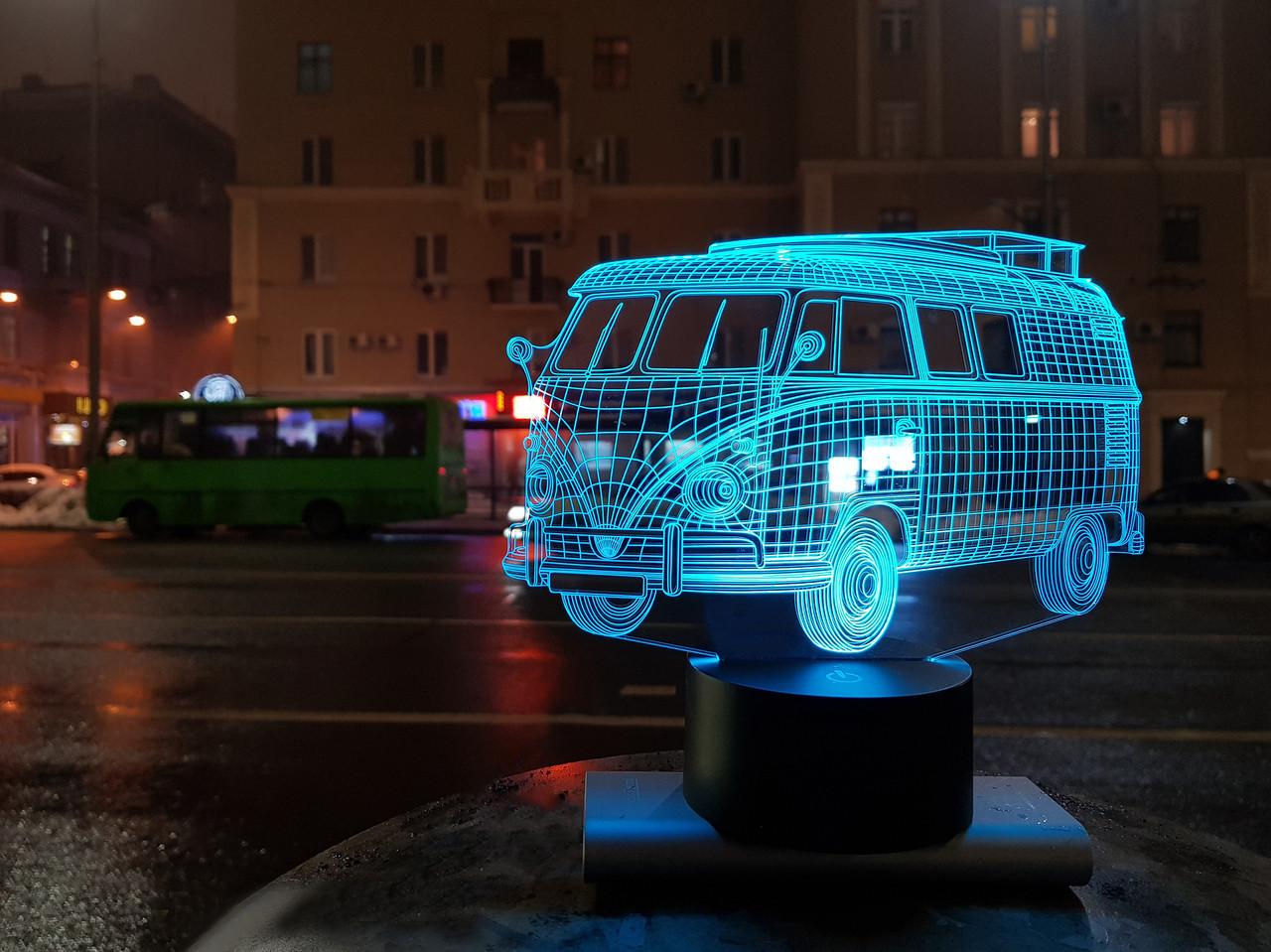 """3D светильник ночник """"Автомобиль 8"""""""