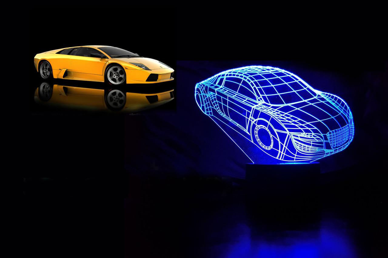 """3D светильник ночник """"Автомобиль"""""""