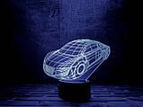 """3D светильник ночник """"Автомобиль"""" , фото 2"""