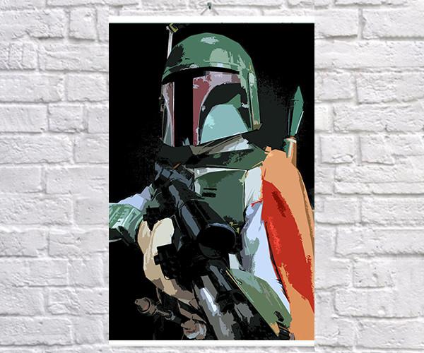 Постер BEGEMOT Поп-Арт Бобба Фетт Звездные войны 40x61 см (1120096)