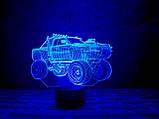 """3D светильник ночник """" Автомобиль 4"""", фото 2"""