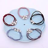 """Резинка для волосся """"Three Pearls"""", 9 кольорів, 1 шт, фото 4"""