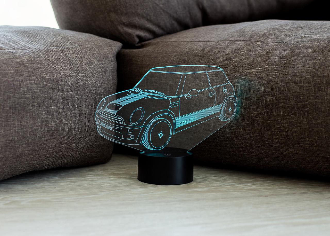 """3D светильник ночник """"Автомобиль 37 """" 3DTOYSLAMP"""