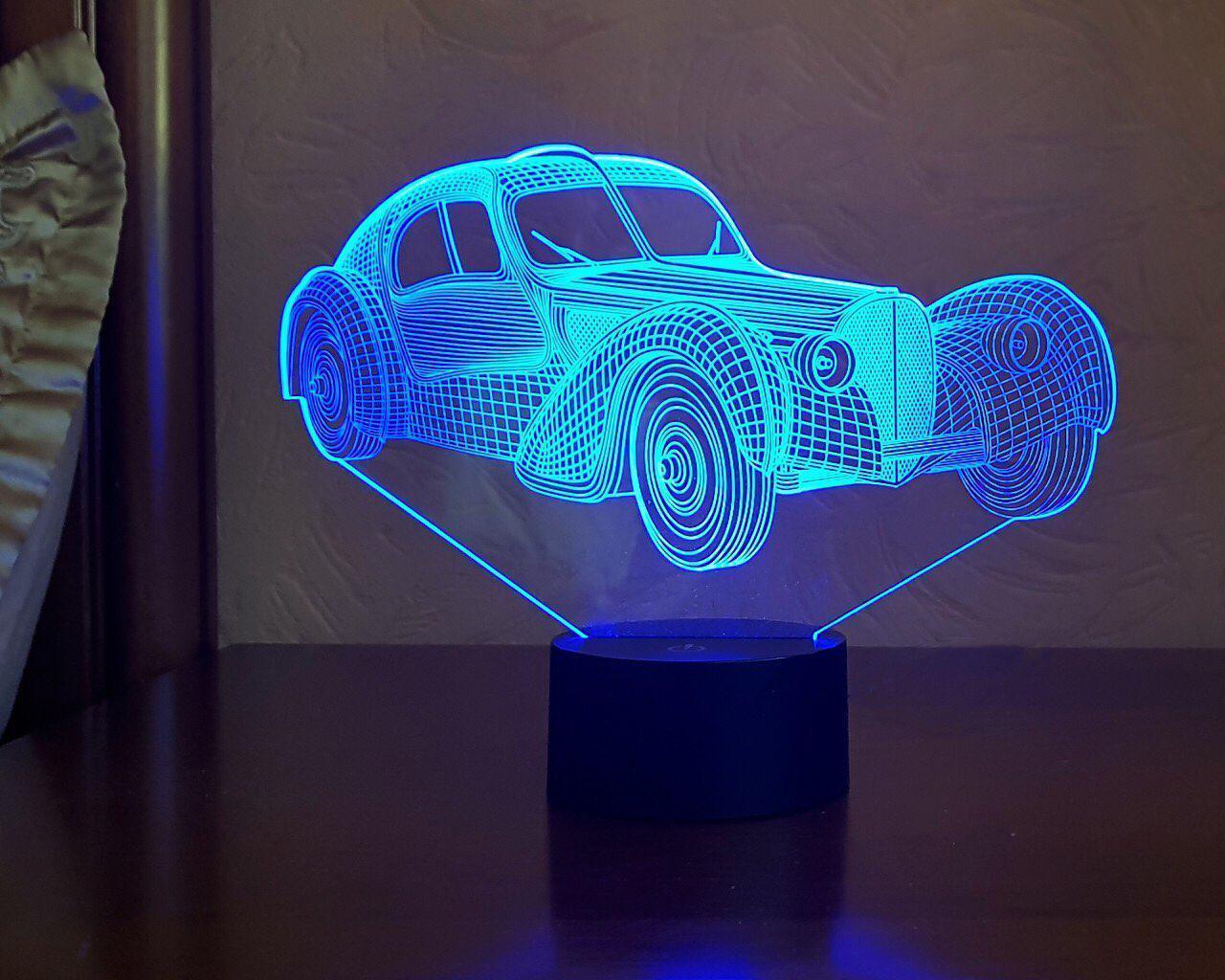 """3D светильник ночник """"Автомобиль 35 """" 3DTOYSLAMP"""