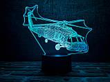 """3D светильник ночник """" Вертолет"""", фото 2"""