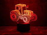 """3D светильник ночник """"Трактор"""", фото 3"""