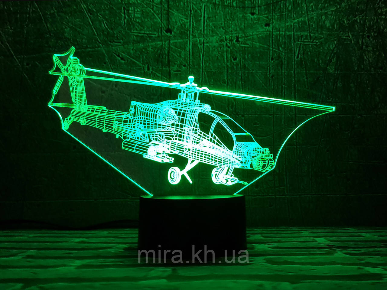 """3D светильник ночник """"Вертолет 3 """" 3DTOYSLAMP"""
