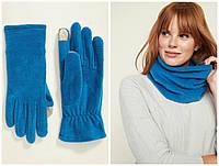 Комплект женский снуд шарф и сенсорные перчатки Old Navy набор хомут баф
