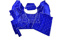 Ворсовые коврики Daf XF 95 Синие Автомат