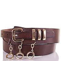 Женский кожаный ремень ETERNO (ЭТЕРНО) ETS418 темно-коричневый