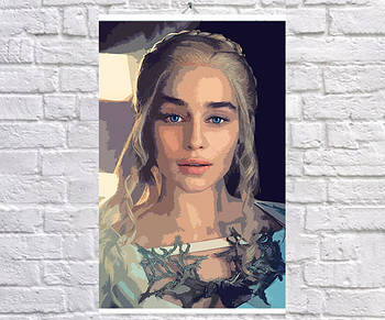 Постер BEGEMOT Поп-Арт Дейенерис Таргариен Игра престолов 61x90 см (1120070-1)