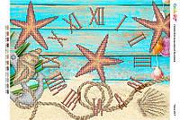 """Схема для часткової вишивки бісером """"Годинник """" Г-17"""