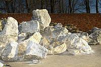 Мрамор белый ландшафтный