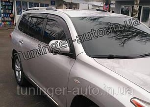 Ветровики, дефлекторы окон Toyota Highlander 2008-2014 (ANV)
