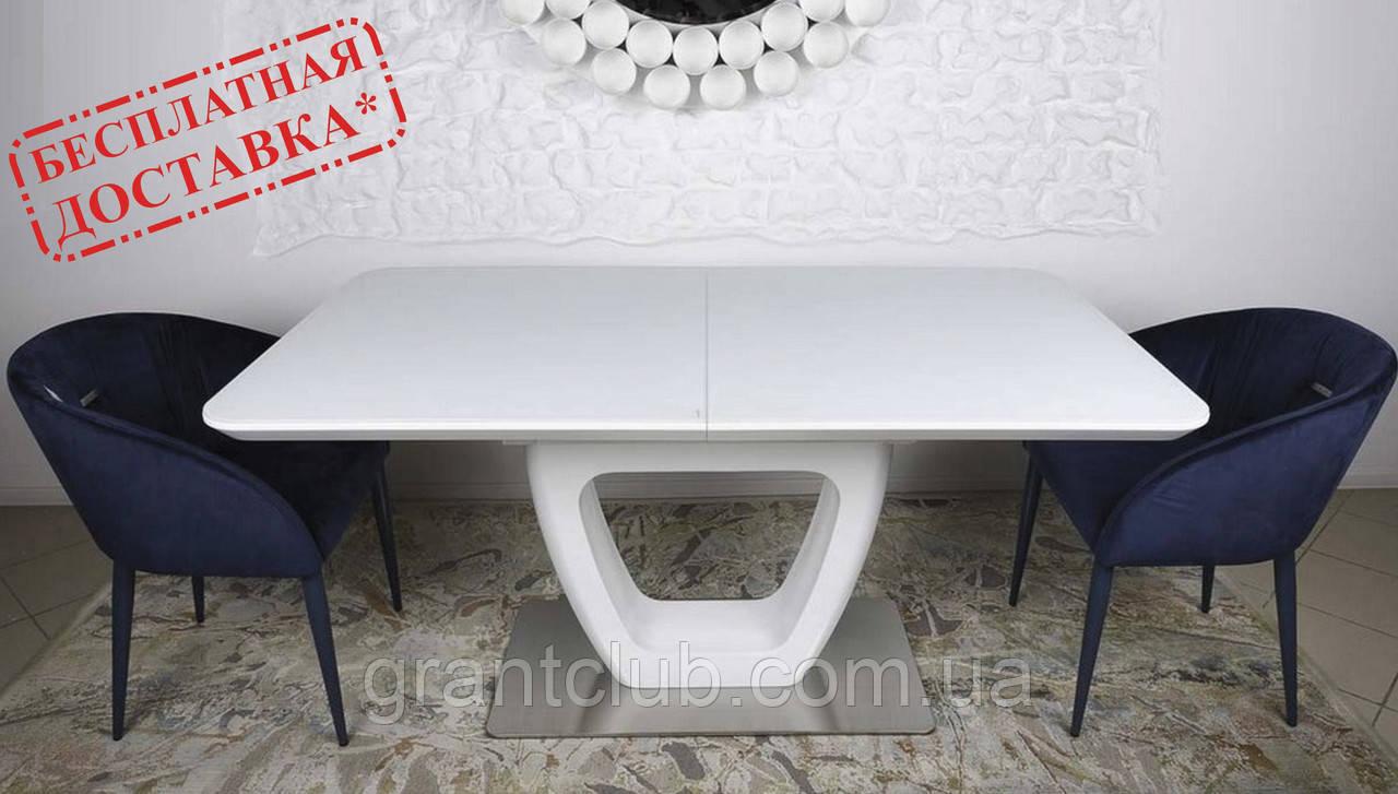 Стол обеденный TORONTO 160/210*90 матовое стекло белый Nicolas (бесплатная доставка)