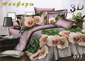 Семейный комплект постельного белья  ранфорс 693, фото 2