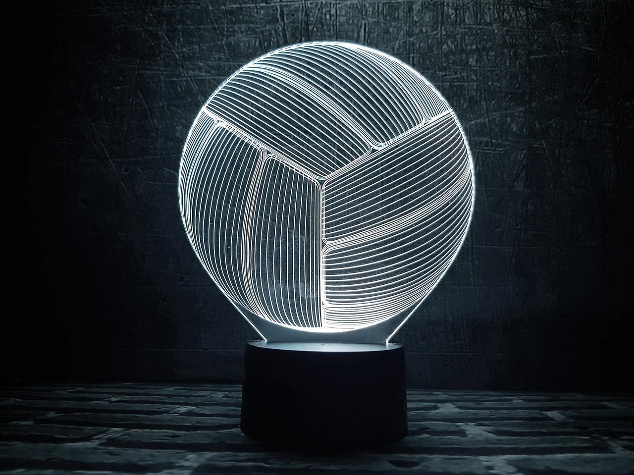 """3D светильник ночник """"Волейбольный мяч"""""""