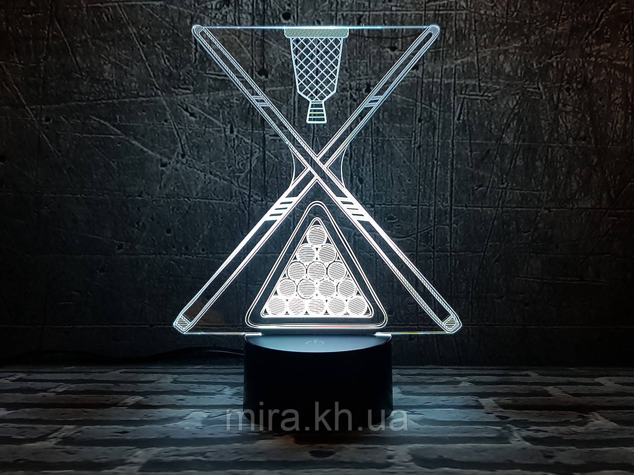 """3D светильник ночник """"Бильярд 2"""""""