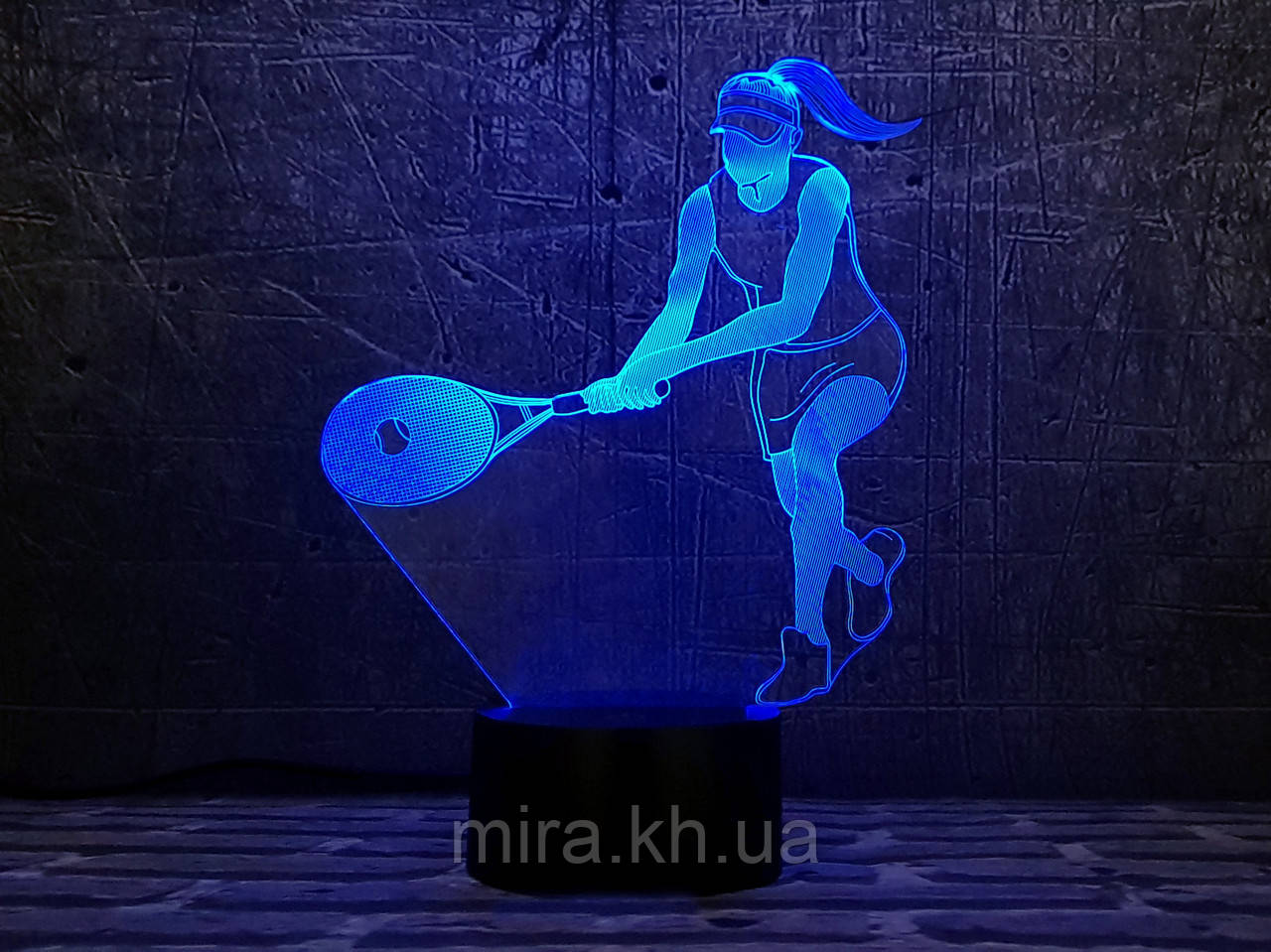 """3D светильник ночник """"Теннисистка"""""""