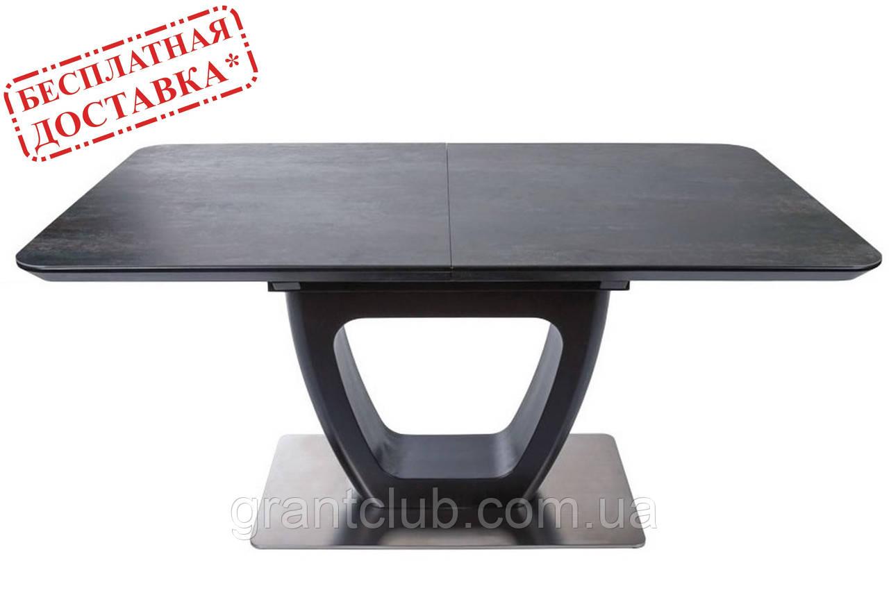 Раскладной стол TORONTO 120/160х80 керамика коричневый графит Nicolas (бесплатная доставка)