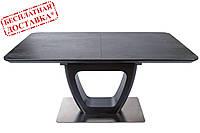 Раскладной стол TORONTO 120/160х80 керамика коричневый графит Nicolas (бесплатная доставка), фото 1