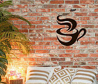 Декоративное металлическое панно Кофе., фото 1