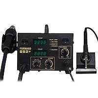 Паяльная станция Forward 852+ компрессорная, фен+паяльник, 2 дисплея, металл корпус