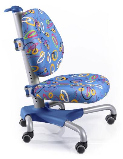 Кресло Mealux Nobel SB (арт.Y-517 SB) серебристый металл / обивка синяя с кольцами