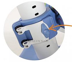 Кресло Mealux Nobel SB (арт.Y-517 SB) серебристый металл / обивка синяя с кольцами, фото 3