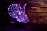 "Сменная пластина для 3D ламп ""Трицераптор"" 3DTOYSLAMP, фото 2"