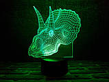 "Сменная пластина для 3D ламп ""Трицераптор"" 3DTOYSLAMP, фото 3"