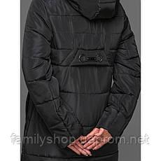 Теплый зимний женский пуховик с капюшоном, фото 3