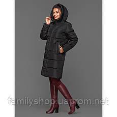 Теплый зимний женский пуховик с капюшоном, фото 2